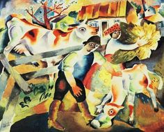 Kadar, Bela (1877-1956) - 1923 Cows (Private Collection) by RasMarley, via Flickr