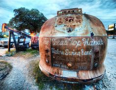 The Broken Spoke Bus for the Texas Top Hands Western Swing Band by Stuck in Customs, via Flickr