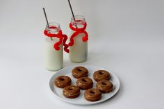 Gingerbread Mini Donuts with @So Delicious Dairy Free dairy free Egg Nog Glaze (with protein version)