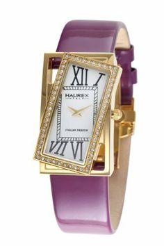 Haurex Italy Women's FY329DWP Ivresse White Dial Watch Haurex. $139.00. Italian design. Roman numerals. Diagonal crystal bezel. Gold-tone case with plum-tone patent leather strap. Genuine patent leather strap. Save 86%!
