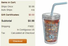 Double Wall Tumblers with straws just 98¢ shipped!  (Reg. $5.95)