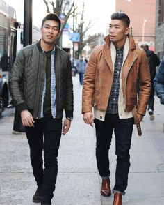 LEO CHAN  NYC (@levitatestyle) • Instagram photos and videos Tan Leather Jackets, Leather Jacket Outfits, Happy Sibling Day, Leo, Graphic Tees, Men's Fashion, Bomber Jacket, Posts, Moda Masculina