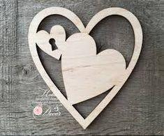 Image result for подвеска сердце из фанеры