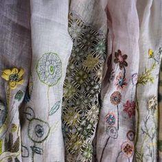 Sophie Digard Embroidered Linen Collection ~ Lisa Mattock (@foragebylisamattock)