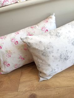 Pretty Cushions  Peony and sage Linen Nora's Ilkley, Yorkshire