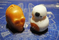 Handmade 3D BB8 and C3PO Parody Soaps  Star Wars by NerdySoap
