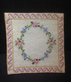 Mini carpet embroidered with small point by MINIRICAMI on Etsy