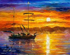 Trusting The Sun — PALETTE KNIFE Oil Painting On Canvas By Leonid Afremov #art #painting #fineart #modernart #canvas