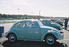 Light Blue Vintage VW Bug