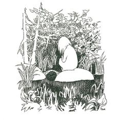 Illustration from The Summer Book, by Tove Jansson, Tove Jansson, Art And Illustration, Moomin Books, Summer Books, Art Reference, Illustrators, Troll, Book Art, Character Design
