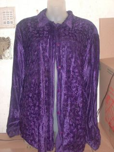 Vintage Embroidery royal Purple button up by PatsapearlsBoutique, $9.99