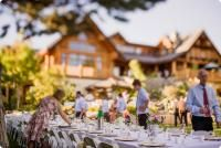 Dinner reception at Apple D'Or Guesthouse in Naramata, BC