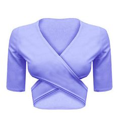 Ladies Crossover Wrap Stretch Cut Out V Neck Party Bralet Cropped Crop Top 8-14 maybs. white or blue