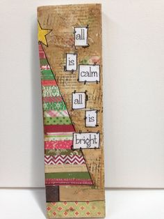 3 1/2x 12 Mixed media Tree all is calm all is by heartfeltByRobin, $19.00