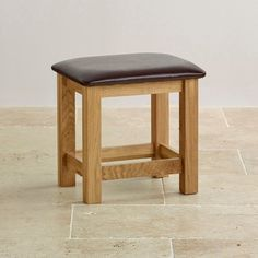 Bevel Natural Solid Oak and Leather Dressing Stool from the Bevel solid oak range from Oak Furniture Land Oak Furniture Land, Hardwood Furniture, Bedroom Furniture, Dressing Stool, Dressing Tables, Vanity Stool, Chairs For Sale, Living Room Chairs, Solid Oak