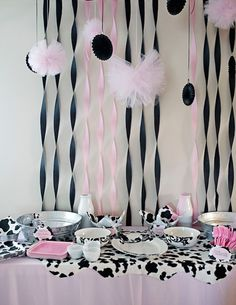 Kara's Party Ideas Moomoos & Tutus Themed Birthday Party regarding Cow Decorations For Birthday Party Cow Birthday Parties, Cowgirl Birthday, Farm Birthday, Birthday Tutu, 1st Birthday Girls, Cow Baby Showers, Second Birthday Ideas, Pink Cow, Mo S