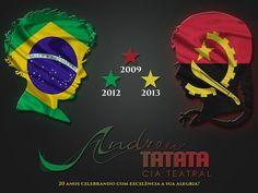 Cartaz comemorativo dos Shows da Cia Andrea Tatata no  Dia Internacional da Criança - Angola - África