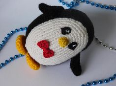 Ready to ship Details This cute little amigurumi penguin is ready-to-ship and with his little red bow-tie is sure to bring a smile to your face! Makes a great gift for anyone, or just a present to yourself, or home decoration. It is 3.93 inches tall and about 3.54 inches wide. Penguin is Handmade by myself in a smoke-free environment this one, with acrylic yarn and polyfil. To clean wipe with a damp cloth. If you have questions or ideas, please email me and Ill try to help you. :) Thank ...