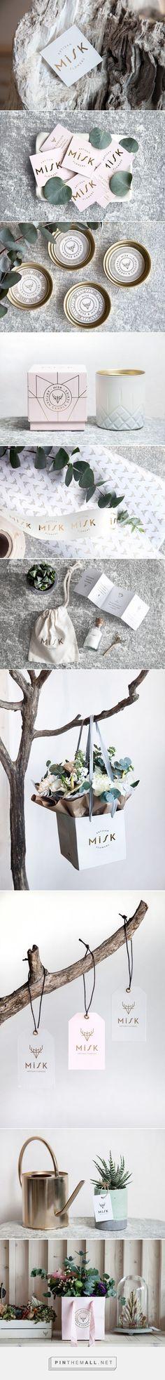 Misk Floral Cafe Branding by Ipek Eris | Fivestar Branding Agency – Design and Branding Agency & Curated Inspiration Gallery #branding #brand #packaging #floristbranding #design #designinspiration