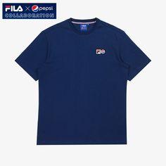 [Fila X Pepsi] Limited Collaboration Pepsi Logo T-shirt Unisex Adult Navy #FILA #Tshirt