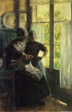 """Elizabeth Nourse, """"The Sewing Lesson"""" (1895)"""
