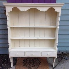 Painted in Frenchic virgin then used clear wax to protect it. Distressed Painting, Furniture Inspiration, Furniture Makeover, Chalk Paint, Vintage Designs, Bookshelves, Painted Furniture, Shelving, Paint Colors