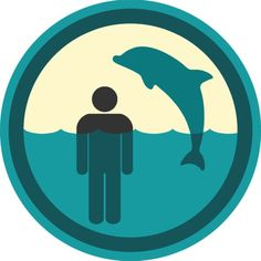 Swim with dolphins badge Lifescouts Alex day