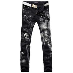 41.69$  Watch here - http://alip5f.worldwells.pw/go.php?t=32750627450 - Men's fashion grape beauty girl print jeans Male casual slim fit straight denim pants 41.69$