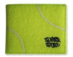 Zumer Sport Tennis Men's Wallet Made From Real Tennis Material #zumersport #tenniswallet #tennis #wallet #menswallet