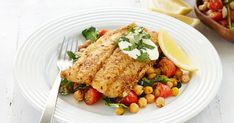 Spice up your dinner tonight, with this mixed spice fish dish served with a dollop of creamy Greek yoghurt and lemon.