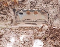 A Jeep playing in the mud