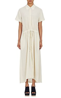 We Adore: The Plissé Gauze Shirtdress from Raquel Allegra at Barneys New York