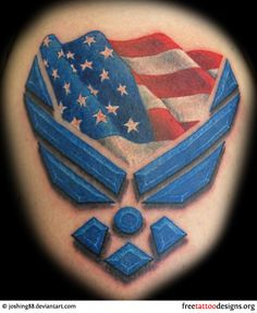 I love this! If I get an Air Force tattoo it'll be something like that