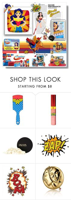 """I Fight Like A Girl #metalliclips #pernilleoe #dcsuperherogirls #wonderwoman (#753)"" by nobility99 ❤ liked on Polyvore featuring beauty, MAC Cosmetics, INIKA and Estée Lauder"