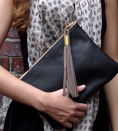 LOVE!  Black Leather Clutch   Women's Bags & Accessories   Rare Bird   Scoutmob Shoppe