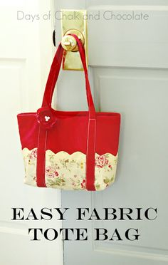 Easy Sew Fabric Tote Bag