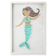 """Mermaid Framed String Art (12""""x18"""") - Pillowfort™ : Target"""