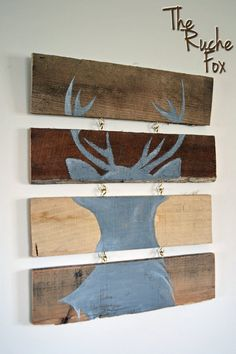 Deer on Reclaimed Wood Picture  Handpainted by TheRucheFox on Etsy, $30.00