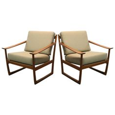 "1960s Danish ""Sleigh"" Chairs by Peter Hvidt 