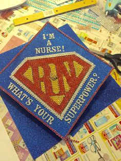 Nursing graduation cap! My niece and I worked on this for 5 hours! I'm so proud of my new RN!