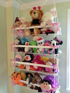 Clever Ideas For Storing Stuffed Animals Storage and Organization In my previous article, I discussed the reasons you should purchase storage stuffed animals. These are toys that are placed in various locations for u. Organizing Stuffed Animals, Storing Stuffed Animals, Stuffed Animal Storage, Stuffed Toys, Diy Room Decor, Bedroom Decor, Doll Storage, Toy Organization, Baby Kind