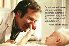 Patch Adams and Robin Williams - both talented and humane pioneers who inspired so many in the field that laughter is the best medicine Medical Humor, Nurse Humor, Robin Williams Frases, Patch Adams Quotes, Child Life Specialist, Pa School, Medical School, Med Student, Student Nurse