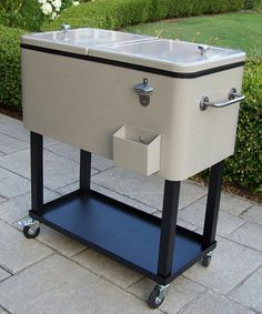 Take a look at this Sand Wheeled Patio Cooler Cart by Oakland Living on #zulily today!
