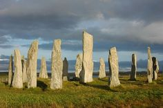 Standing stone circle at Calanais. Callanish (UK)