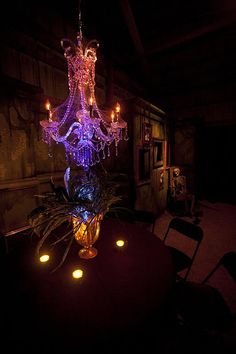 Nice uplighting. Haunted Masquerade 2014-8794-1 | Flickr - Photo Sharing!