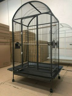 Everila Large Bird Parrot Cage Dometop Macaw African Grey Cockatoo - Bird Cages - Ideas of Bird Cages Large Parrot Cage, Small Bird Cage, Pet Bird Cage, Large Bird Cages, Parrot Cages, Finch Bird House, Bird Play Gym, Macaw Cage, Cockatiel Care