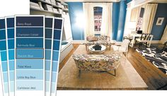The blue from Carrie's apartment in SATC movie. This is my next bedroom color.