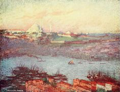 """'Suleimaniyeh at Sunrise' from """"Constantinople painted by Warwick Goble"""" (1906)"""
