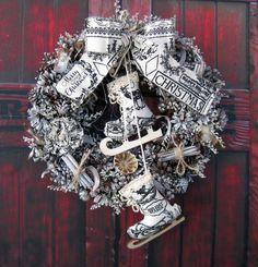 Merry Větší nostalgický věneček s brusličkami, průměr 31 cm.