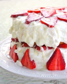 Strawberry Shortcake with Almond Glaze - The Girl Who Ate Everything